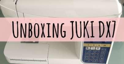 Unboxing máquina de coser JUKI DX7