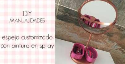 DIY Espejo renovado con spray