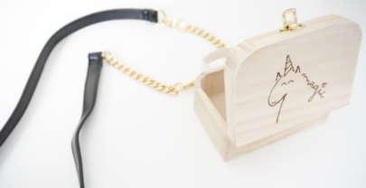 DIY Bolso de madera pirograbado