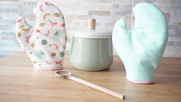 DIY Friends Phoebe (costura) MANOPLAS DE COCINA