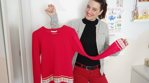DIY Costura 2 ideas para customizar y transformar ropa, un jersey y una sudadera