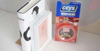 Sujetalibros con lámina de Charuca y cinta adhesiva de Ceys