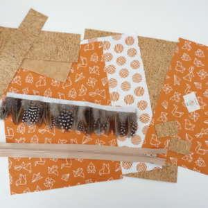 kit clutch de plumas origami