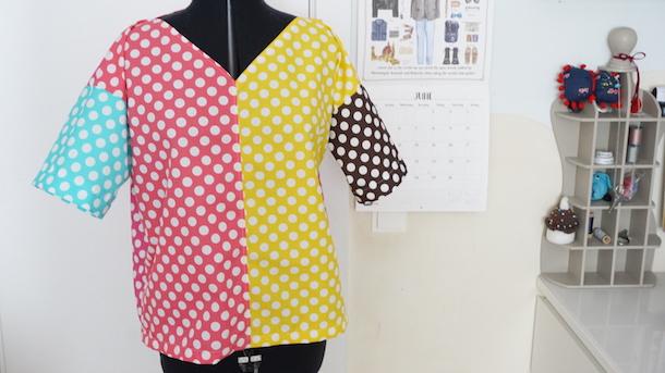Camisa de lunares para el desafío de Handbox y Ribes y Casals