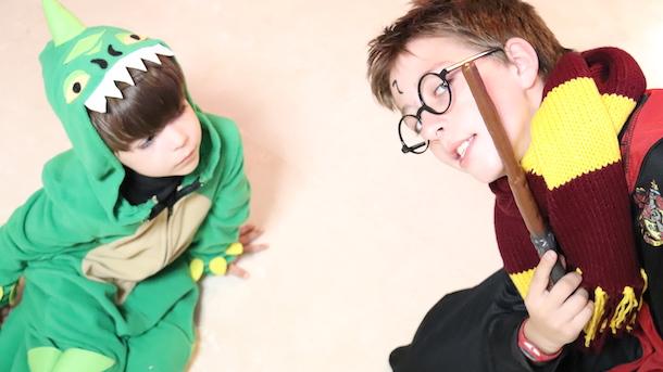 Carnaval salvado con Vegaoo :D Harry Potter y Dinosaurio