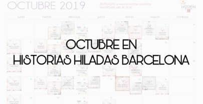 CALENDARIO DE OCTUBRE DE HISTORIAS HILADAS BARCELONA