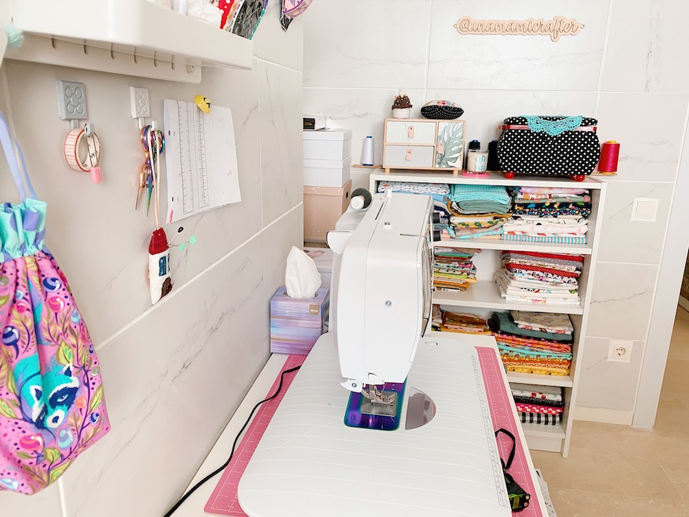 cuarto costura ordenado y práctico